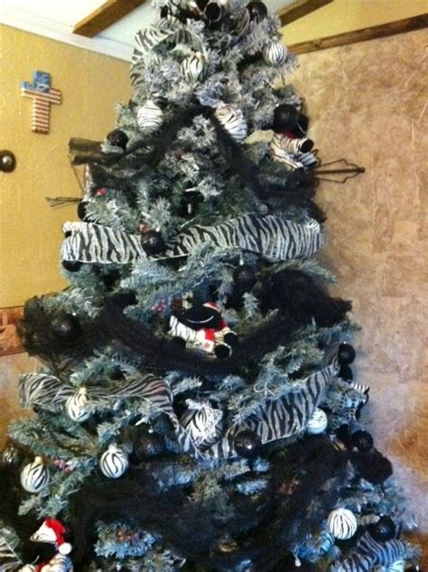 my zebra christmas tree christmas pinterest trees