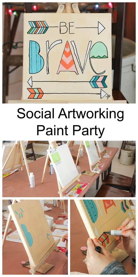 Social Artworking Canvas Painting - how to throw a social artworking paint