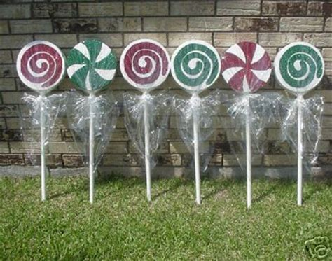 christmas yard lollipops peppermint lollipops and on