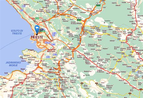 triest map trieste map and trieste satellite image