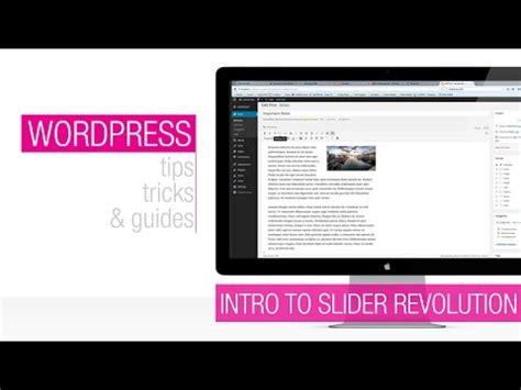 wordpress tutorial youtube 2015 wordpress tutorial revolution slider animation basics
