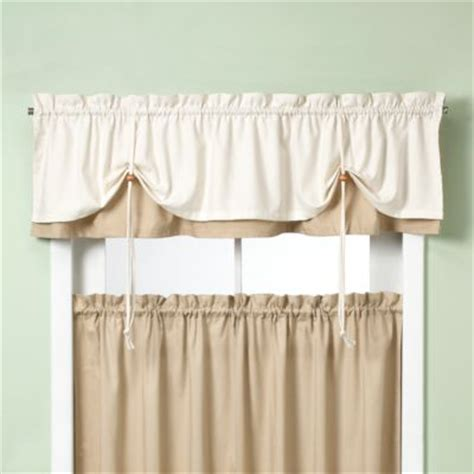 Red Cotton Curtains Buy Kitchen Valances From Bed Bath Amp Beyond