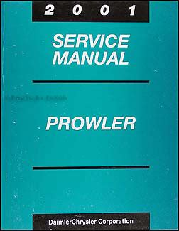 2001 chrysler plymouth prowler repair shop manual original