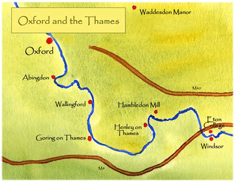 map of river thames in oxford paintings by marianne brand oxford university and the