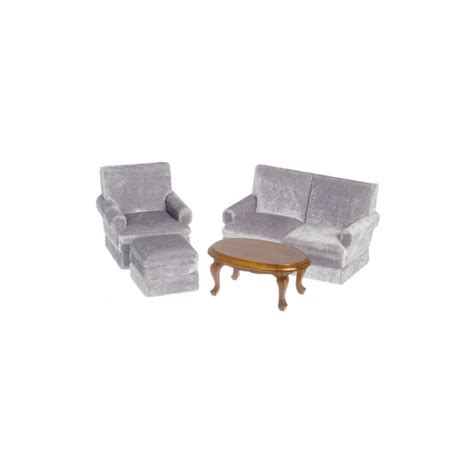 walnut living room furniture sets dollhouse gray walnut living room set miniature living