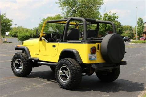Lifted 94 Jeep Wrangler Find Used Jeep Wrangler 94 Lifted Custom Yellow