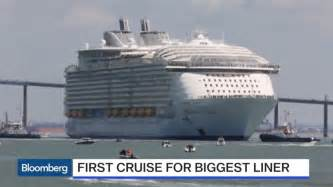 Largest Cruise Ship by World S Biggest Cruise Ship Makes Maiden Voyage