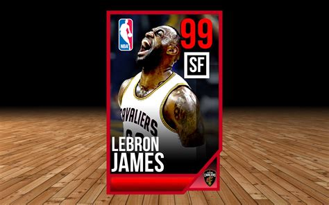 nba live mobile card template s2 template showcase 99 lebron with psd