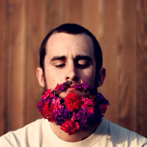 guys are decorating their beards with flowers to celebrate guys are decorating their beards with flowers and it s awesome