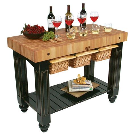 boos kitchen islands john boos gathering block iii kitchen island with 4