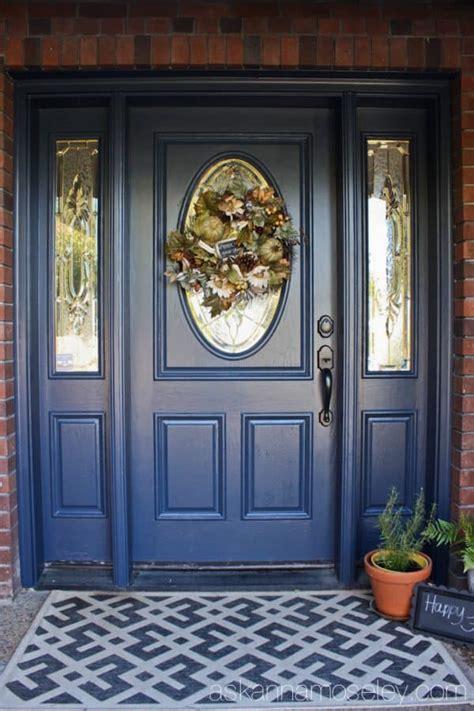 delightful Yellow House Blue Door #1: Blue-front-door-makeover-Ask-Anna-4-600x901.jpg