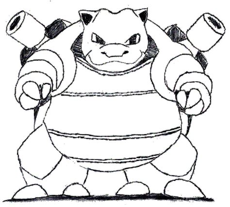 pokemon coloring pages of blastoise pokemon blastoise coloring pages sketch coloring page