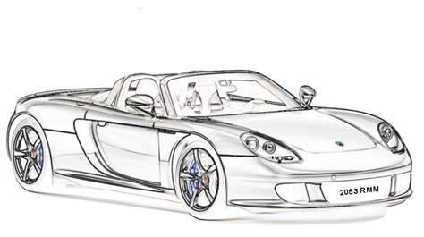 imagenes blanco y negro de autos dibujos para colorear autos deportivos modernos dibujos