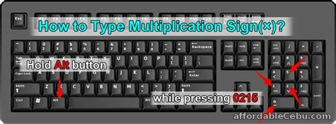 how do you type the infinity symbol how to type multiplication sign 215 in computer