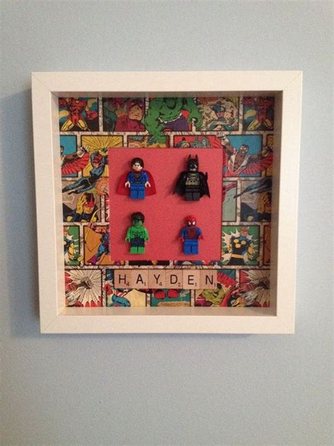 lego home decor superheroes lego frame home decor