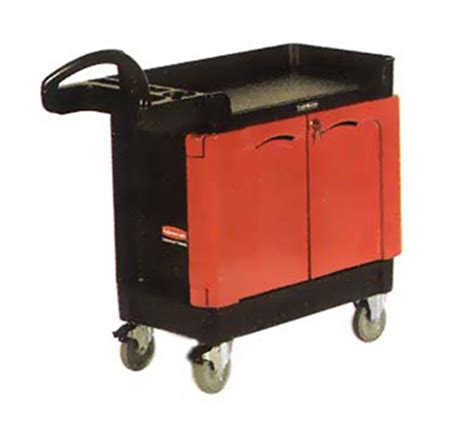 rubbermaid trademaster cart with cabinet rubbermaid fg453288bla trademaster mobile cabinet 2 door