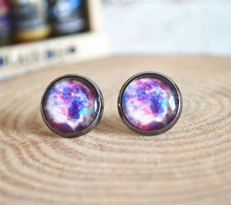 Galaxy Earrings galaxy stud earrings colorful galaxy earrings jewelry