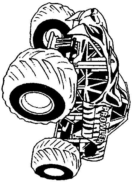 batman monster truck coloring pages