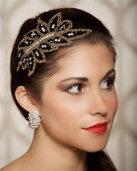 hair styles with rhinestones black gold rhinestone crystal headpiece bridal by