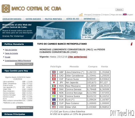 banco de cuba cambio what currency to take to cuba cuban money faq diy