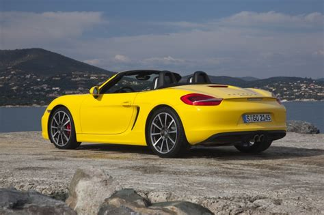 yellow porsche boxster 2013 porsche boxster s in racing yellow color static