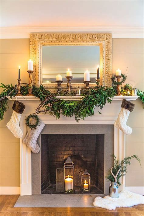 Fireplace Ornament With by Fireplace Ornament With 28 Images Fireplace Background With Wreath And Ornaments Vector