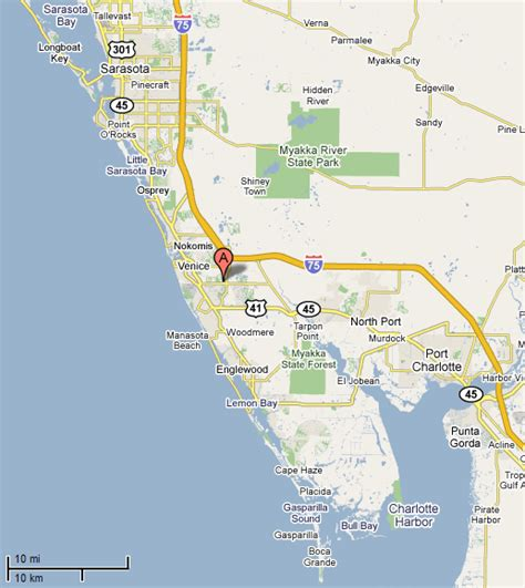 where is sarasota florida located on the map images and places pictures and info venice florida map
