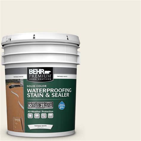 behr premium  gal  swiss coffee solid waterproofing