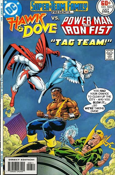 vintage dc comics hawk dove team family the lost issues hawk and dove vs power and iron marvel and dc