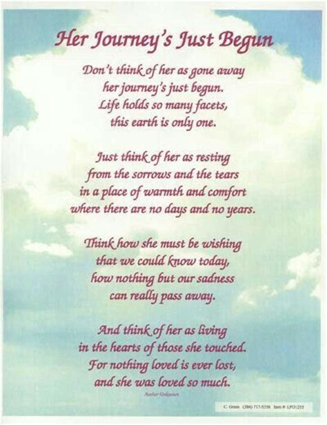 Renee 7 16 16 Quotes Pinterest Poem And Funeral Poems