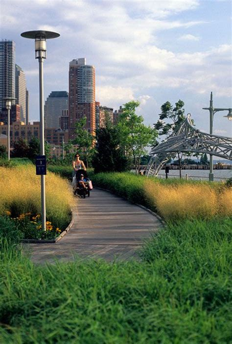 Landscape Architect Nyc Hudson River Park Tribeca Section Pier 25 Opens To The