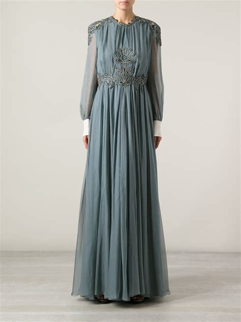 99022 Zada Gray 2 In 1 Maxi valentino embellished maxi dress in gray lyst