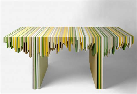 Corian Furniture Designer Rabih Hage Uses Leftover Corian To Create