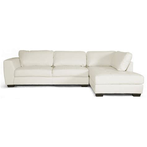 sectional sofas wi orland sectional sofa white leather right facing chaise