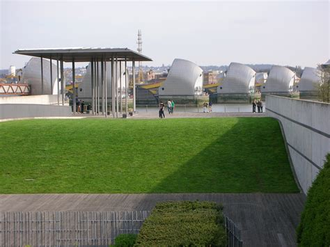 thames barrier architect thames barrier park london landscape architect s pages