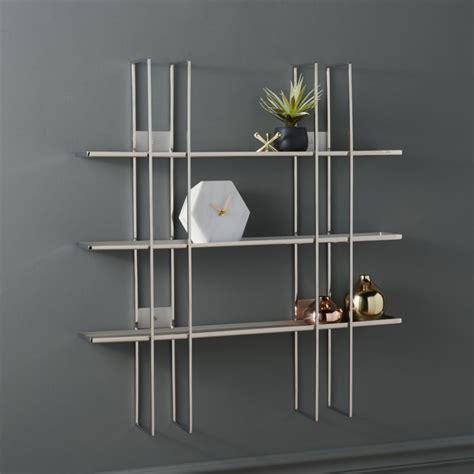 staff stainless steel wall shelf cb2