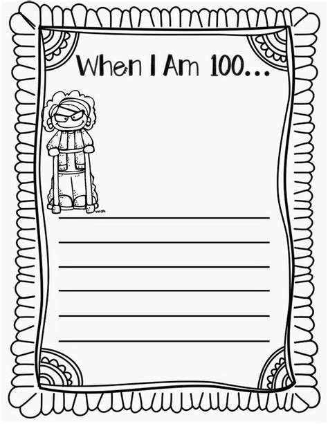 100th day writing paper 100th day writing third grade
