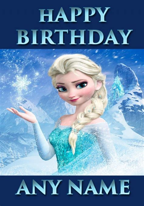 frozen themed birthday ecard happy birthday animated frozen cards to download