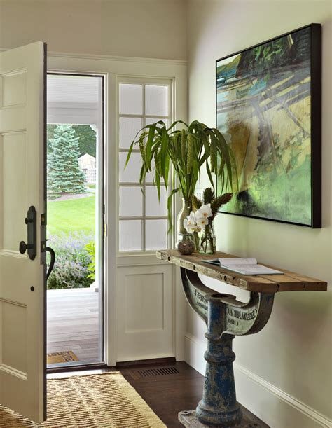 Modern Entry Table Entrance Table Decor Contemporary With Antique