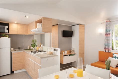 mobilhome   chambres  salles deau residences