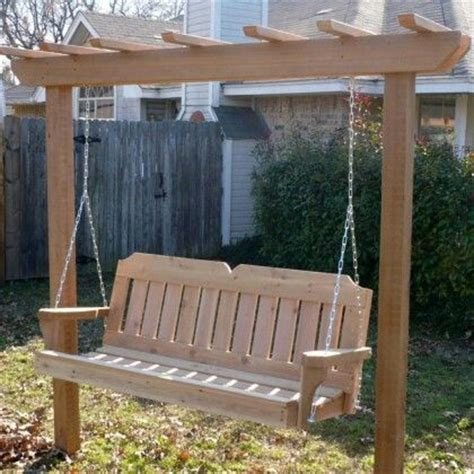 standing porch swing free standing arbor porch swing outdoor living pinterest