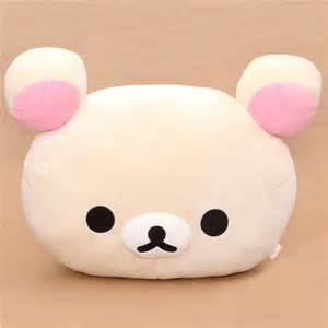 Cute Animal Mugs super big rilakkuma white bear head plushie pillow plush