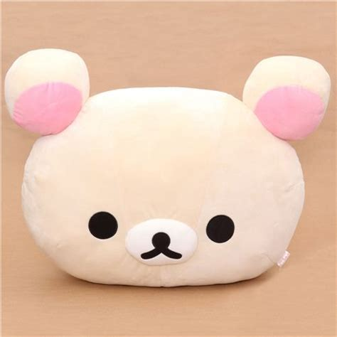 big rilakkuma white plushie pillow plush