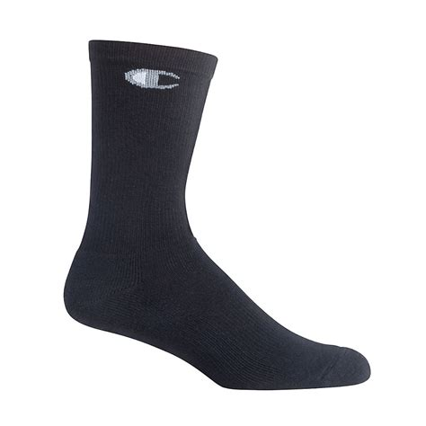 Quicksilver Black chion mens crew socks 6 pack ch611 7 67 hosiery and more