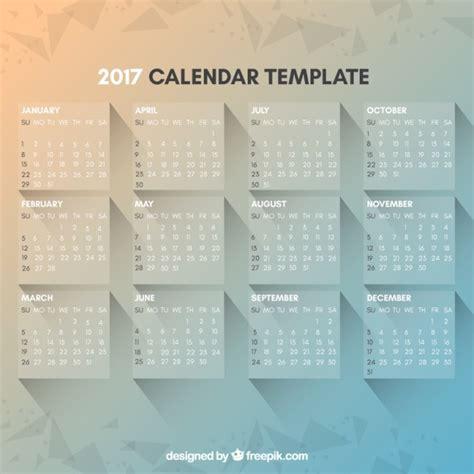 Calendario Moderno Plantilla De Calendario 2017 Moderno Y Elegante