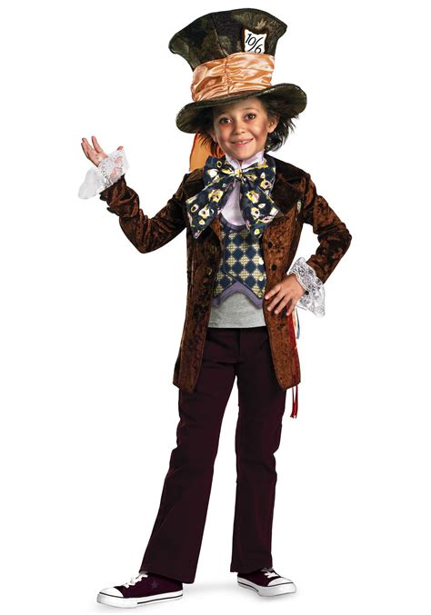 costume for child deluxe mad hatter costume