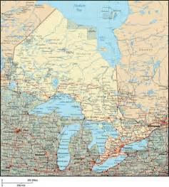map of canada regional city in the wolrd ontario map