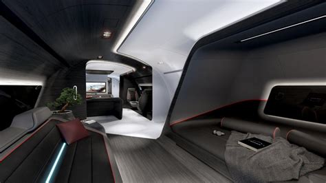 lufthansa  designed  luxury private jet cabin inspired   mercedes amg sports car