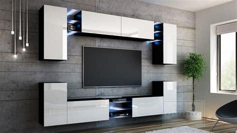 Wohnwand Modern Design by Kaufexpert Wohnwand Galaxy Wei 223 Hochglanz Schwarz