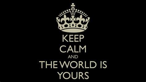 when the world is keep calm and the world is yours poster mohit keep calm o matic
